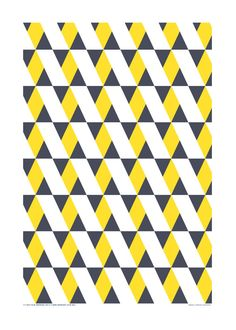 Teatowel in graphic pattern by HelenaLunding on Etsy