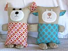 thom haus handmade: Bear and Pup Soft Toys
