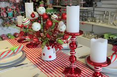 Whimsical table ideas in the 2013 My Christmas store.