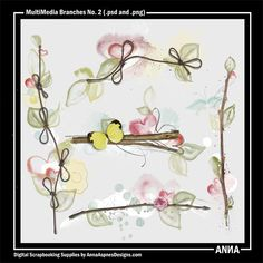 Oscraps :: Shop by Designer :: Anna Aspnes Designs :: MultiMedia Branches No. 2 #art #digitalart #scrapbook #photography