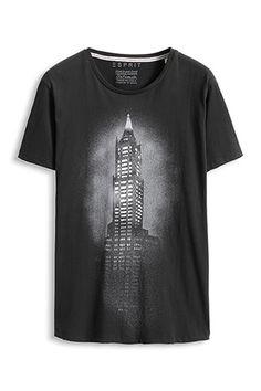 ink for Esprit / Jersey Print T-Shirt, Baumwolle