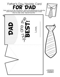 Vatertag fathers day day diy day food ideas day gifts from kid day cake day crafts Fathers Day Art, Fathers Day Crafts, Happy Fathers Day Cards, Happy Mothers, Father's Day Card Template, Tie Template, Templates, Father's Day Activities, Daddy Day