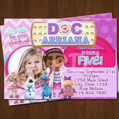 Hey, I found this really awesome Etsy listing at http://www.etsy.com/listing/168431101/doc-mcstuffins-invitations-doc