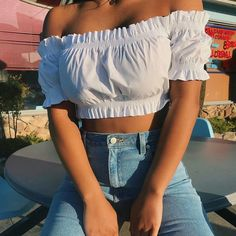 Imagem de fashion, outfit, and style Stylish Outfits, Cute Outfits, Fashion Outfits, Womens Fashion, Crop Top Outfits, Summer Outfits, Mall Outfit, Kinds Of Clothes, Street Style