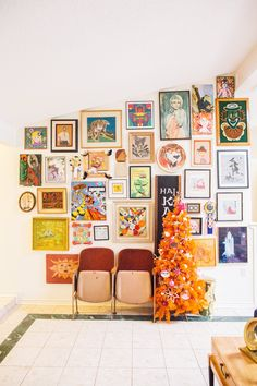 Love this art wall