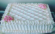 Buttercream Birthday Cake, Birthday Sheet Cakes, Cake Icing, Eat Cake, Cupcake Cakes, Pretty Cakes, Beautiful Cakes, Sheet Cake Designs, Homemade Frappuccino