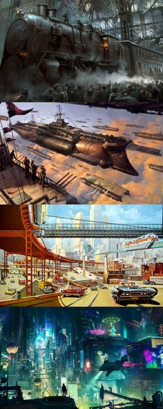 Steampunk, Dieselpunk, Atompunk, Cyberpunk -