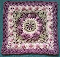 Vintage Sea Flower Mandala Square ~ free pattern ᛡ
