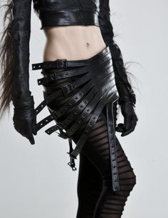 I could skip the hair gloves, but LOVE the tights and buckle skirt.