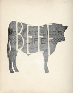 Beef Cow Silhouette Printable - INSTANT DOWNLOAD on Etsy, $8.00