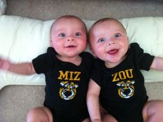 Mizzou Onsies for Twins by lsembroidery on Etsy