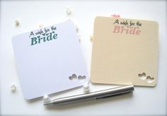 Wishes for the bride cards wedding wish cards by PaperLovePrints, $14.50