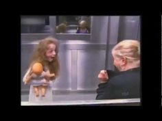 Funniest thing I've seen in a while... already had a fear of elevators, this made it worse! Elevator prank with scary little girl.