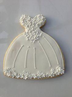 Mẫu bánh cookie cưới áo cô dâu   Mẫu Bánh Đẹp - Cake Inspiration