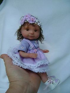 Ooak polymer clay toddler Agostina ,9 inches,hand sculpted by Bettymoni