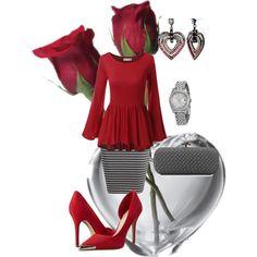 """Valentine's Day Dinner"" by sonyastyle on Polyvore"