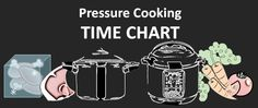 pressure cooker cooking times for stovetop and electric pressure cookers. Includes grain-to-water ratios, frozen meat cooking times and much more!