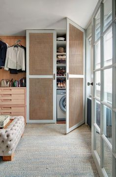 """Obtain great tips on """"laundry room storage diy small"""". They are accessible for you on our web site. Bedroom Closet Storage, Laundry Room Storage, Laundry Rooms, Bath Storage, Office Storage, Basement Laundry, Laundry Closet, Laundry Cupboard, Laundry Drying"""
