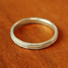 the narrow branch wedding band is beautifully textured for an organic earthy feel inspired