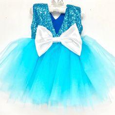 NEW Frozen inspired tutu dress (back view)  Shop our tutu dresses here: https://www.bellethreads.com/collections/tutu-sets