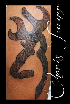 Browning Logo Real Tree Camo Mossy Oak Tattoo by ~Metacharis on deviantART
