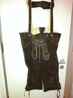 Lederhose  Herren-Lederhose, echtes Leder, Größe 50, neu und ungetragen