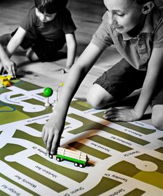 Your neighborhood custom map play mat - how fun and a great way for the kids to learn their surroundings!