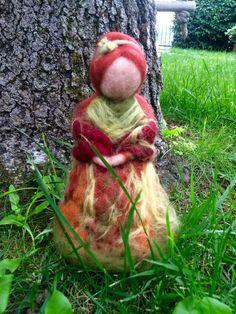 Fata dell'autunno in lana cardata fiabae   In di CreazioniMonica