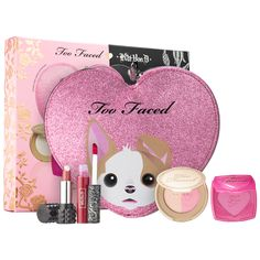 Shop Too Faced x Kat Von D's Better Together Cheek & Lip Makeup Bag Set at Sephora. It features four lip and cheek minis in heart-shaped makeup bag.