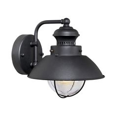 Cascadia Lighting Nautical 8-in H Textured Black Outdoor Wall Light  outside lights (exterior lights)