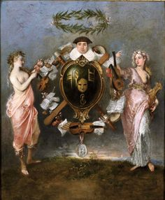 Rococo, A4 Poster, Poster Prints, Vintage Artwork, Cherub, Oil On Canvas, 18th Century, Painting & Drawing, Fine Art
