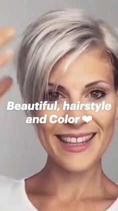 Pixie Haircut For Thick Hair, Short Choppy Hair, Short Hair Undercut, Short Grey Hair, Haircuts For Fine Hair, Short Hair With Layers, Cute Hairstyles For Short Hair, Short Hair Styles, Fine Hair Pixie Cut
