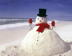 ...can be anywhere...and not made out of snow!
