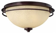 """Hinkley Lighting - Stowe 4721MC - in metro copper finish """"with subtle red copper hues that complement the antique light scavo glass"""". (Not sure if this would work with the Venetian bronze). There's a matching pendant."""