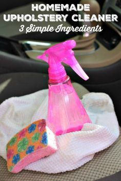 Is your couch or car upholstery in need of a little TLC? This homemade upholstery cleaner will remove stains and help sterilize the area too!