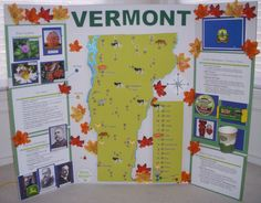 A Raspberry Pi-based State Poster Project Map Projects, History Projects, Class Projects, Research Projects, Science Projects, School Projects, Projects For Kids, Interactive Poster, Project Board