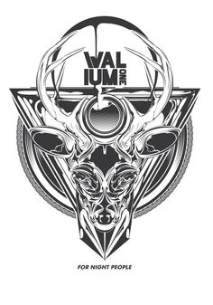 Valium Clothing // Graphic vector   -deer #Valium_one #Graphic #Graphic_vector #Street_wear