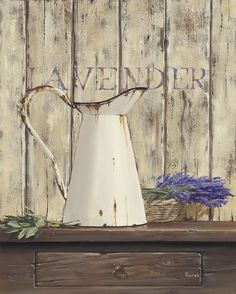 Lavender I Canvas Art - Renee x Wall Prints, Poster Prints, Napkin Decoupage, Painting Still Life, My Canvas, Kitchen Art, Cool Art, Awesome Art, Vintage Cards