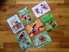 Children and their Pets - Pack 7 A6 postcards- High quality - Front and back print by ScarletDeer on Etsy