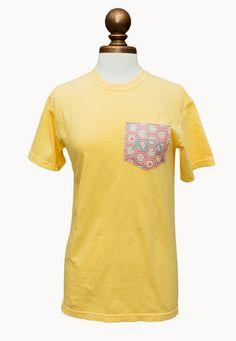 Comfort Colors Pocket Tee - Butter – Alpha Gam Boutique - Get it now!