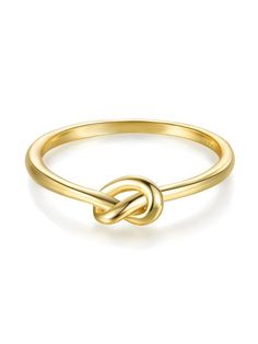 [ad] A simple gold love knot ring makes the perfect gift for that special someone.