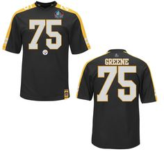 Pittsburgh Steelers Mens Joe Greene Hall of Fame Hashmark Synthetic Jersey T-Shirt