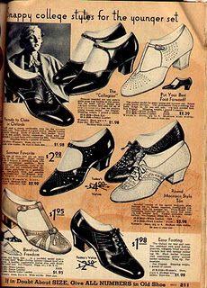 1930s Shoes, Vintage Shoes, Vintage Outfits, Vintage Clothing, 1930s Fashion, Retro Fashion, Vintage Fashion, Vintage Style, Style Fashion