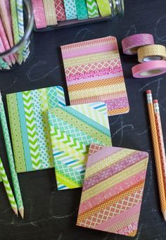 40 DIY Projects for Your Extra Office Supplies via Brit + Co