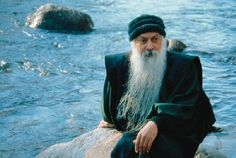 Osho in the sea