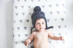 bed sheets, hearts print www. E Room, Kidsroom, Heart Print, Kids Decor, Crochet Hats, Beanie, Pink, Baby, Bed Sheets