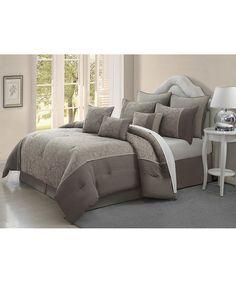 Jade Blossom Nine-Piece Comforter Set | zulily