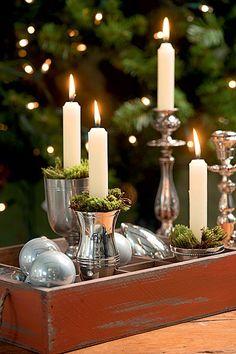 Velas para decorar a casa no Natal