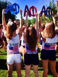 Bid Day Idea! Union Hand in Hand, United PHI stand!  #alphaphi #bidday #sisters