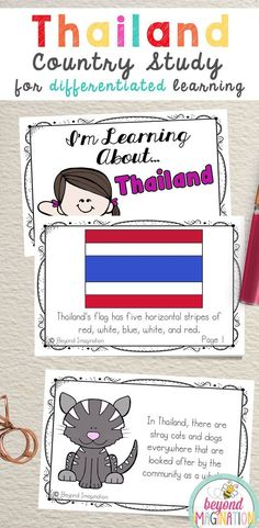 Thailand Flag, Kindergarten Special Education, Social Studies Projects, Little Passports, World Thinking Day, Dramatic Play Centers, Facts For Kids, Classroom Activities, Maths Resources